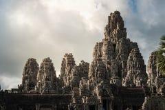 Ansicht von Bayon in der Naht ernten, Kambodscha stockfotografie