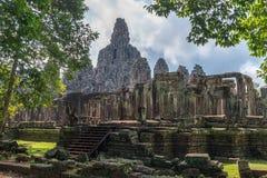 Ansicht von Bayon in der Naht ernten, Kambodscha stockfoto