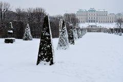 Ansicht von Belvedere-Gärten stockbild