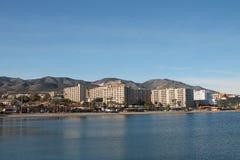 Ansicht von Benalmadena-Küstenlinie Stockfotografie