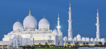 Ansicht von berühmtem Abu Dhabi Sheikh Zayed Mosque Lizenzfreie Stockfotos