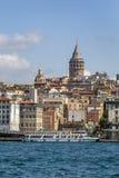 Ansicht von Bereich Istanbuls Beyoglu lizenzfreies stockbild