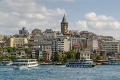 Ansicht von Bereich Istanbuls Beyoglu lizenzfreie stockbilder
