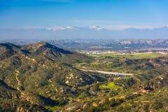 Ansicht von Bergen von der Weltspitze, im Laguna Beach stockfotografie