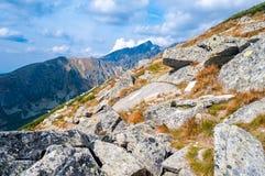 Ansicht von Bergen von Solisko in hohem Tatras, Slowakei Stockbild