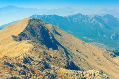 Ansicht von Berglandschaft des zentralen Stiers Lizenzfreies Stockbild
