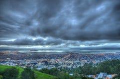 Ansicht von Berkeley und von San Francisco Stockbild