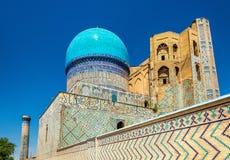 Ansicht von Bibi-Khanymmoschee in Samarkand - Usbekistan Lizenzfreie Stockfotos