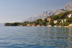 Ansicht von Biokovo Berg vom Meer Stockbilder