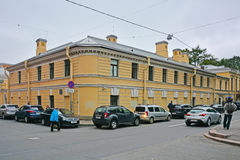 Ansicht von Bobrinsky& x27; s-Palast von Galernaya-Straße in St Petersburg, Russland Lizenzfreies Stockfoto