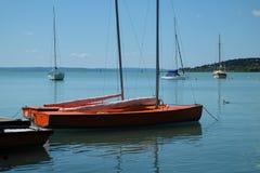Ansicht von Booten auf Balaton lizenzfreies stockbild