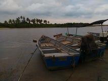 Ansicht von Booten zu den Kosten Lizenzfreie Stockfotografie