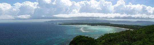 Ansicht von Boracay-Insel in Richtung zu Panay Stockfotos