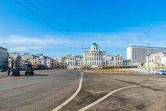 Ansicht von Borovitskaya-Quadrat im Jahre 2015 Stockbild