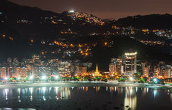 Ansicht von Botafogo und Guanabara bellen in Rio de Janeiro lizenzfreie stockbilder