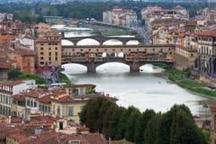 Ansicht von Brücke Gold-Ponte Vecchio Lizenzfreies Stockfoto