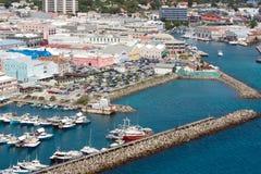 Ansicht von Bridgetown (Barbados) stockbild