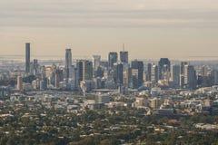 Ansicht von Brisbane von Mt Blässhuhn-tha Stockbilder