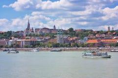 Ansicht von Buda, Budapest lizenzfreies stockfoto