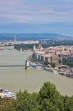 Ansicht von Budapest lizenzfreies stockbild