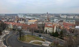 Ansicht von Budapest an der Dämmerung Lizenzfreie Stockfotografie