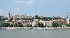 Ansicht von Budapest mit Kirchen Stockbilder