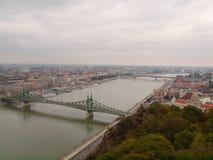Ansicht von Budapest von Gellert Lizenzfreie Stockbilder