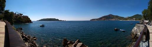 Ansicht von Budva, Montenegro. Stockbilder
