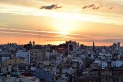 Ansicht von Buenos Aires, Argentinien bei Sonnenuntergang Lizenzfreie Stockfotografie
