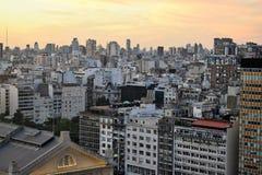 Ansicht von Buenos Aires, Argentinien bei Sonnenuntergang Stockfotografie
