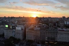 Ansicht von Buenos Aires, Argentinien, 18. von Februar von 2017 Lizenzfreie Stockfotos