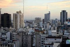 Ansicht von Buenos Aires, Argentinien, 18. von Februar von 2017 Stockbilder