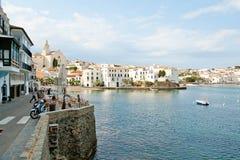 Ansicht von Cadaques, Costa Brava-Dorf Lizenzfreie Stockbilder
