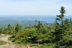 Ansicht von Cadillac-Berg Stockbild