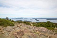 Ansicht von Cadillac-Berg im Acadia-Nationalpark Lizenzfreies Stockbild