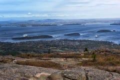 Ansicht von Cadillac-Berg im Acadia-Nationalpark, Maine Stockfotografie