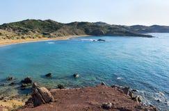 Ansicht von Cala Pilar Menorca, die Balearischen Inseln, Spanien Lizenzfreies Stockbild