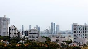 Ansicht von Cartagena, Kolumbien stockfotos