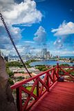 Ansicht von Cartagena vom Schloss von San Felipe Stockfoto