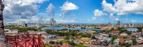 Ansicht von Cartagena vom Schloss von San Felipe Lizenzfreie Stockfotografie