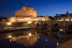 Ansicht von Castel Sant ' Angelo in Rom, Italien lizenzfreies stockfoto