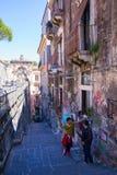 Ansicht von Catania-Straße Stockfotografie