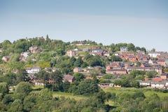 Ansicht von Cefn Mawr in Nord-Wales stockbilder