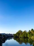 Ansicht von Chanthabun-Fluss, gelegen in Ost von Thailand Lizenzfreies Stockbild