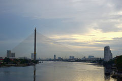 Ansicht von Chao Phraya River Bangkok Thailand Stockfotografie