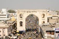 Ansicht von Charminar-Turm Stockfoto