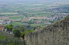 Ansicht von ` Chiana Val d von der Wand von Cortona Stockfoto