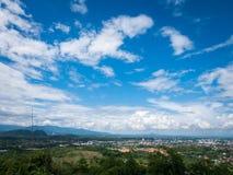 Ansicht von Chiang Rai City, Thailand Lizenzfreies Stockbild
