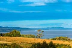 Ansicht von Chiloe-Insel stockfoto
