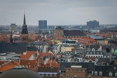 Ansicht von Christiansborg-Turm kopenhagen dänemark lizenzfreies stockbild